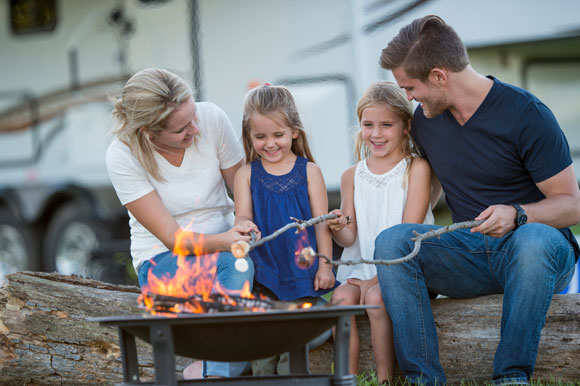 RV Young Family Camping