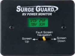 Surge Guard Remote Power Monitor LCD Display