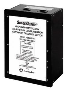 southwire surge guard rv power protection with RVC automatic transfer switch - Model 40450